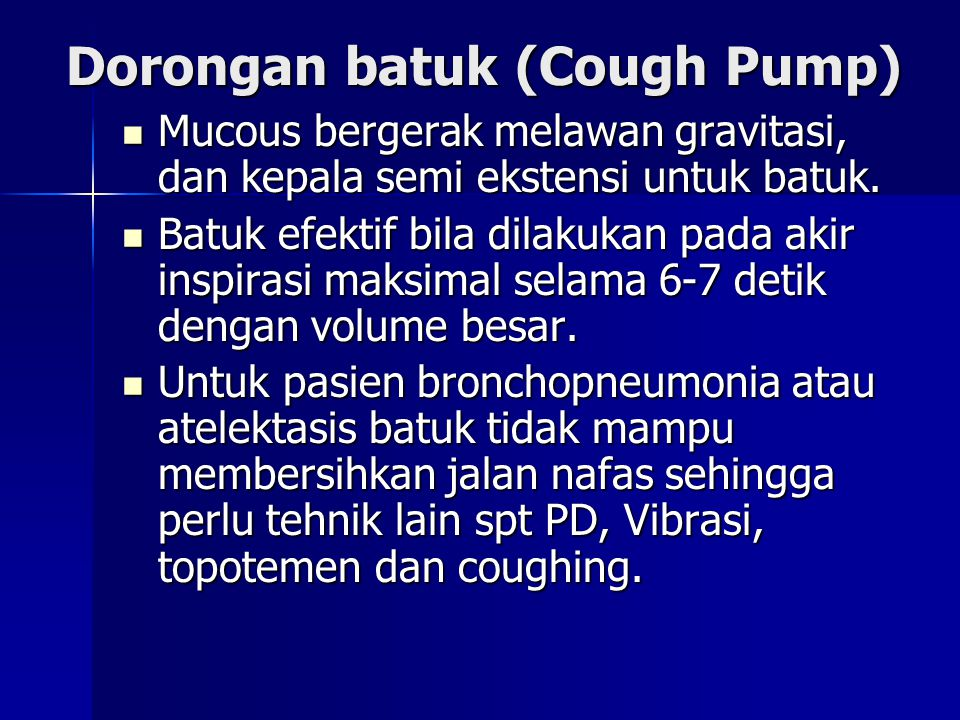 Dorongan batuk (Cough Pump)