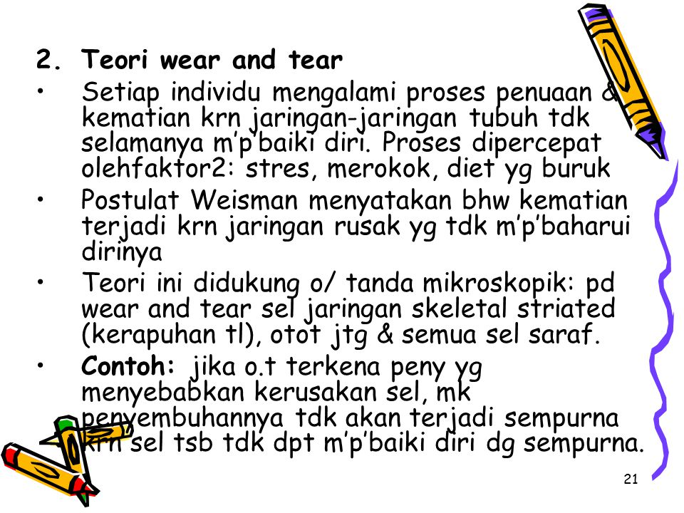 Teori wear and tear