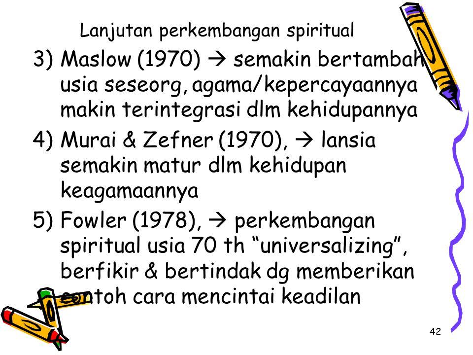 Lanjutan perkembangan spiritual