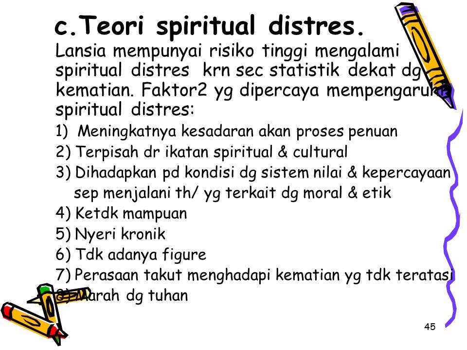 c.Teori spiritual distres.