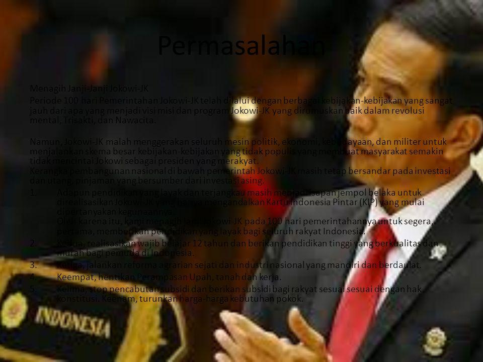 Permasalahan Menagih Janji-Janji Jokowi-JK
