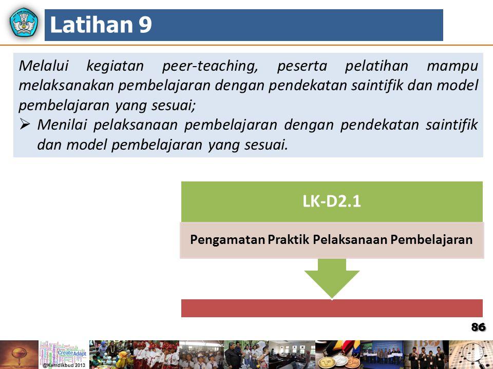 Pengamatan Praktik Pelaksanaan Pembelajaran