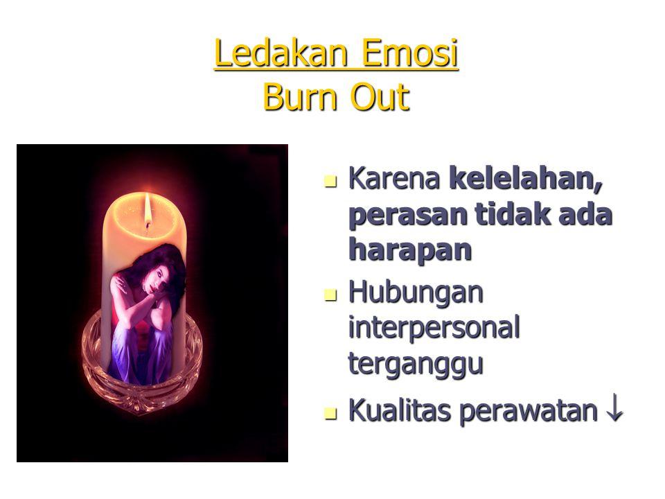 Ledakan Emosi Burn Out Karena kelelahan, perasan tidak ada harapan