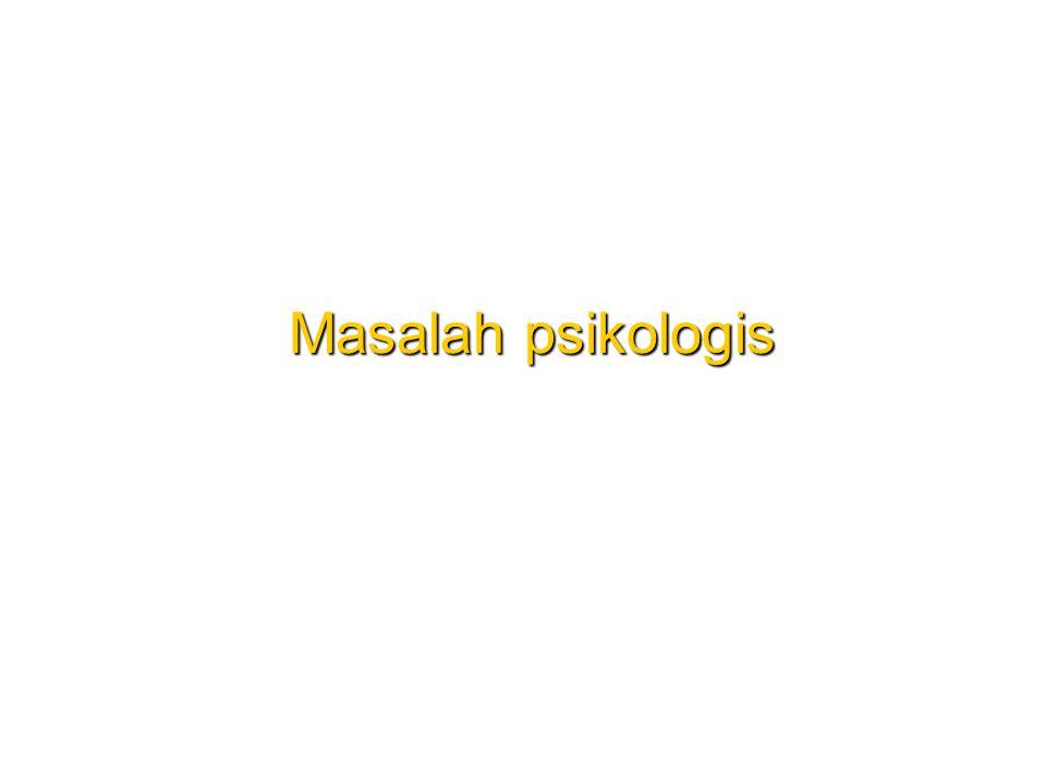 Masalah psikologis