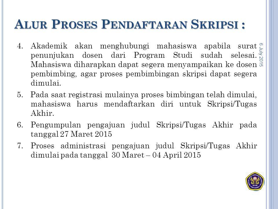 Alur Proses Pendaftaran Skripsi :