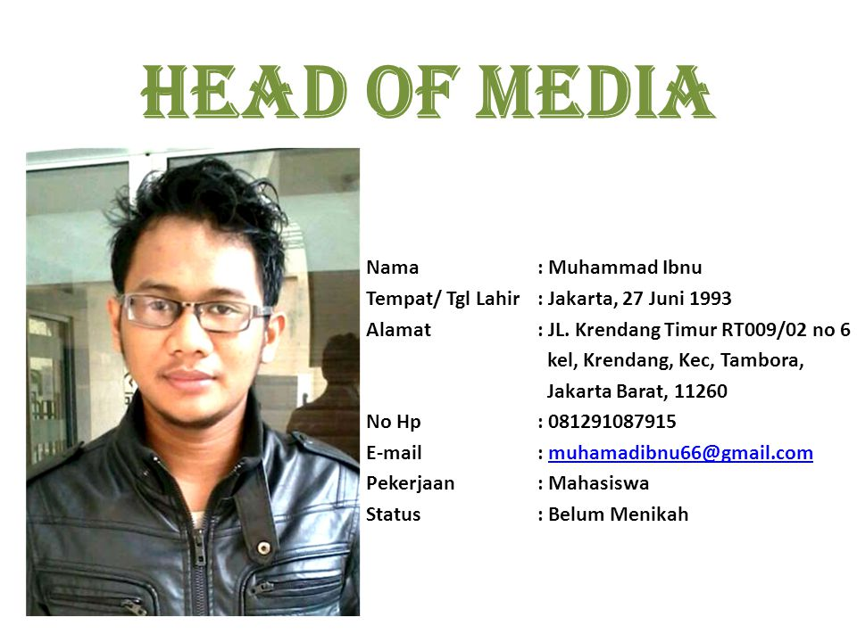 Head of media Nama : Muhammad Ibnu