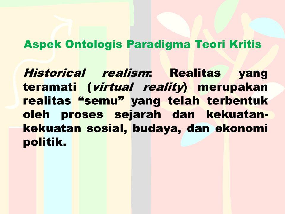 Aspek Ontologis Paradigma Teori Kritis