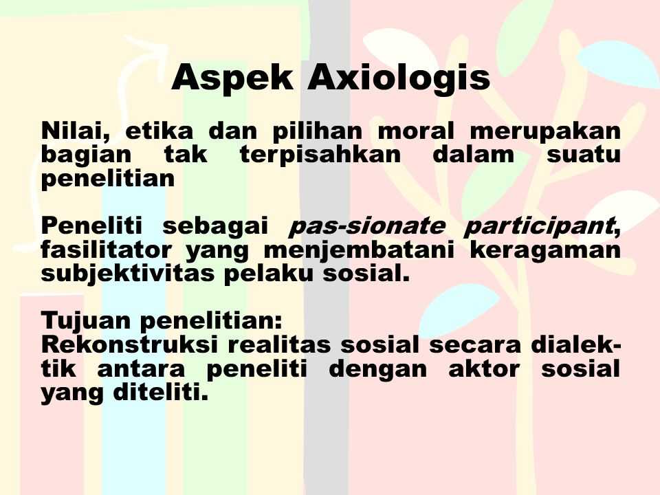 Aspek Axiologis