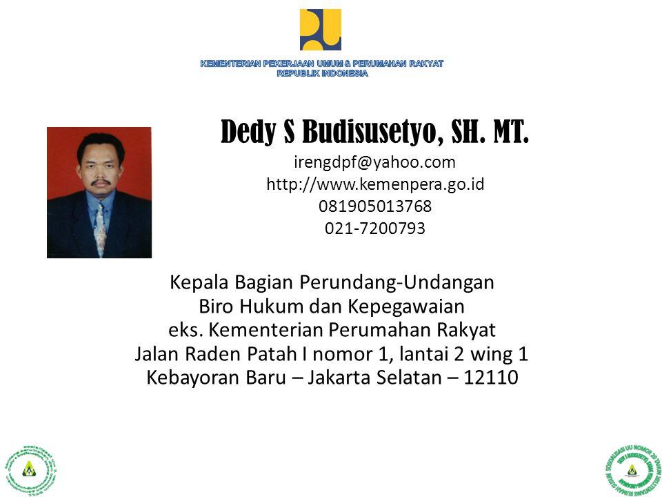 KEMENTERIAN PEKERJAAN UMUM & PERUMAHAN RAKYAT REPUBLIK INDONESIA