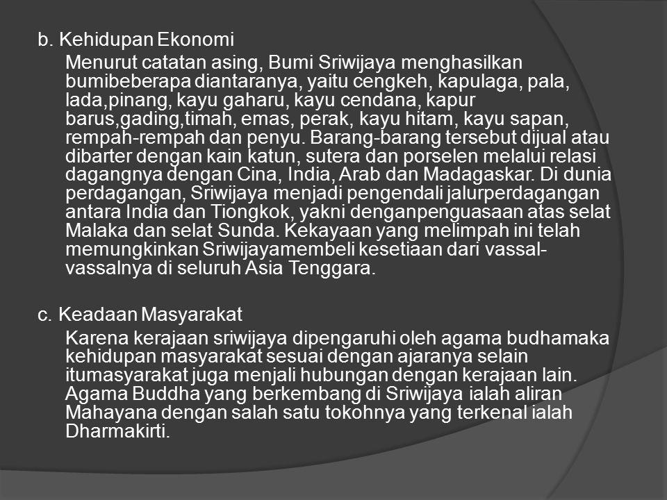 b. Kehidupan Ekonomi