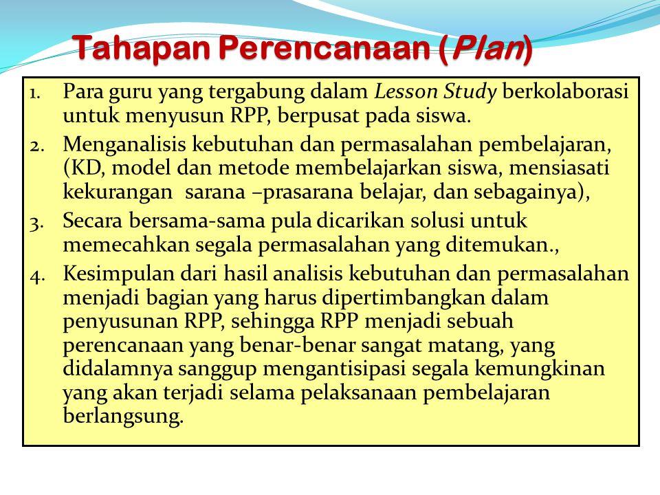Tahapan Perencanaan (Plan)