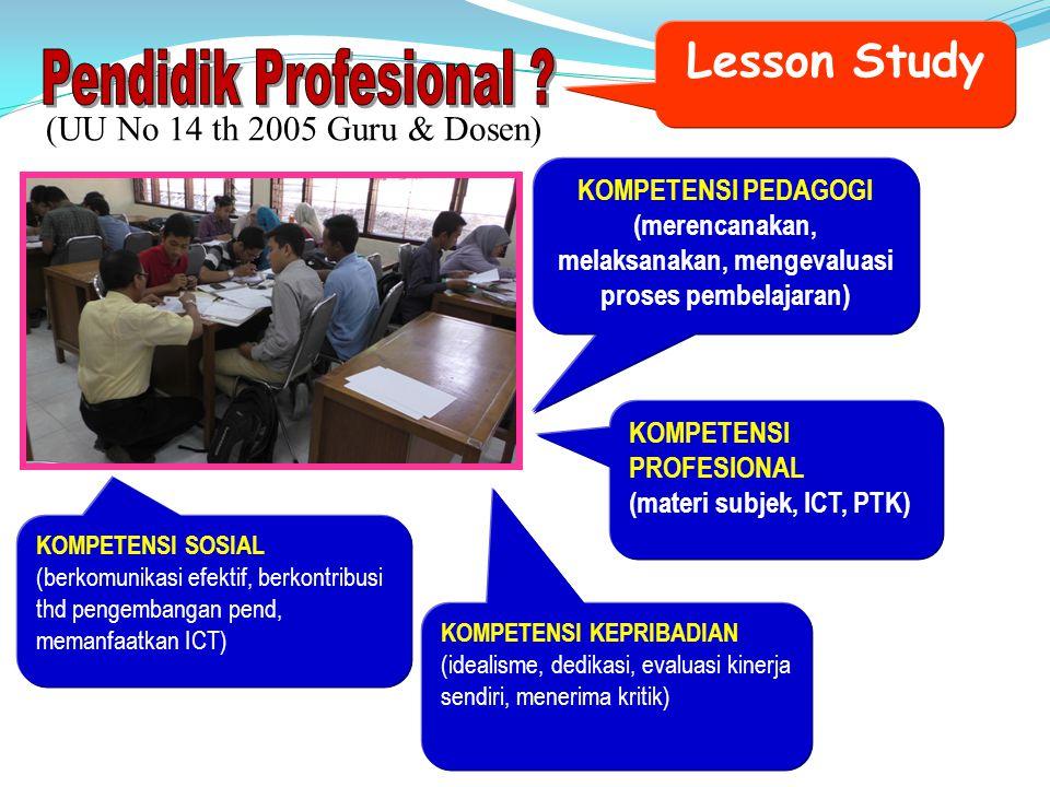 (merencanakan, melaksanakan, mengevaluasi proses pembelajaran)