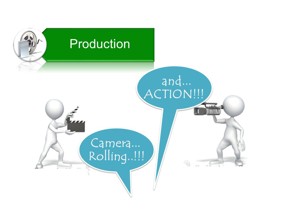 Production and... ACTION!!! Camera... Rolling..!!!