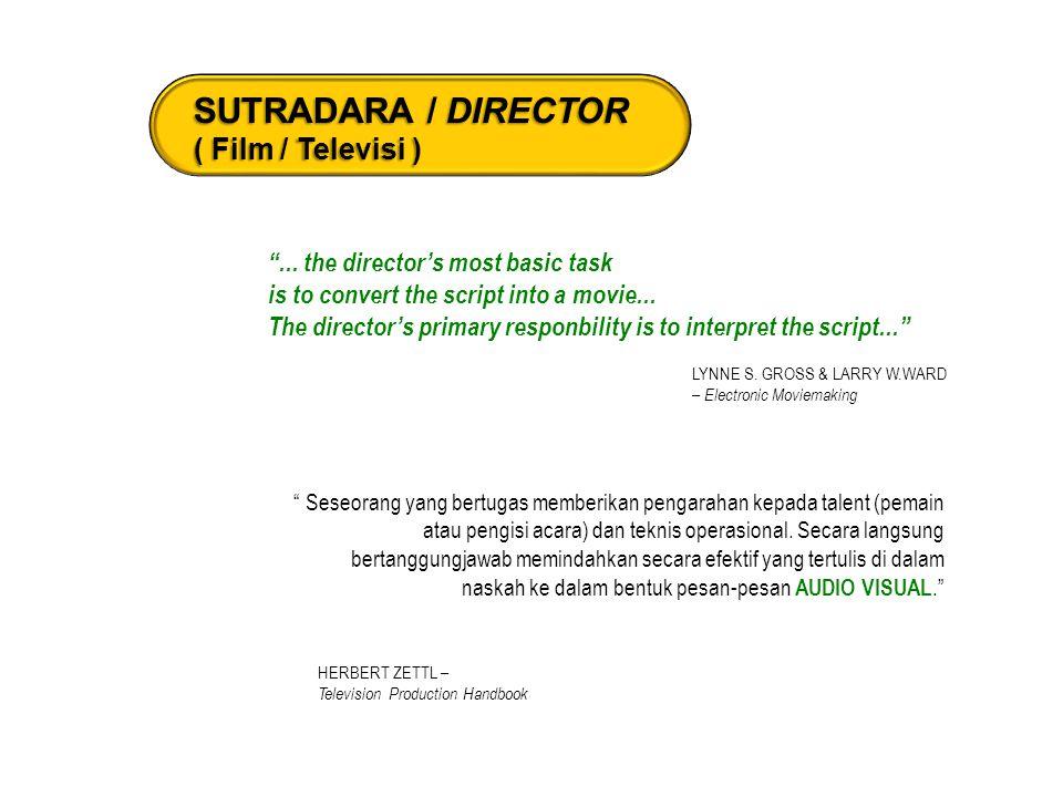 SUTRADARA / DIRECTOR ( Film / Televisi )