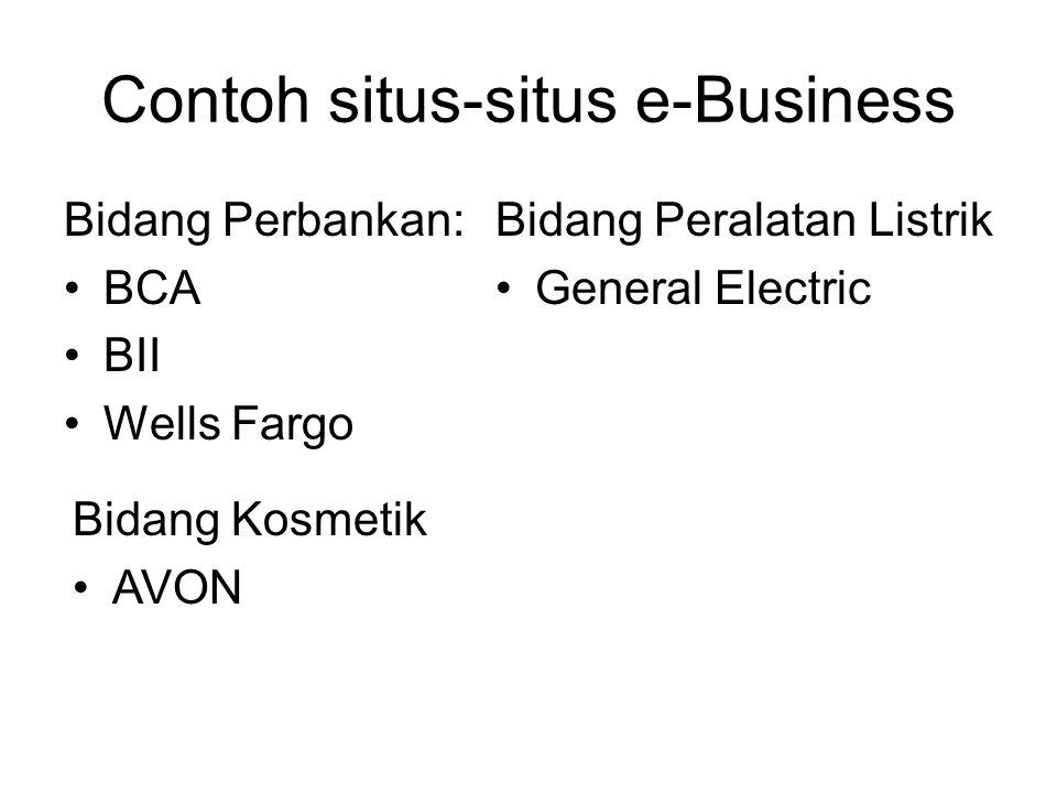 Contoh situs-situs e-Business