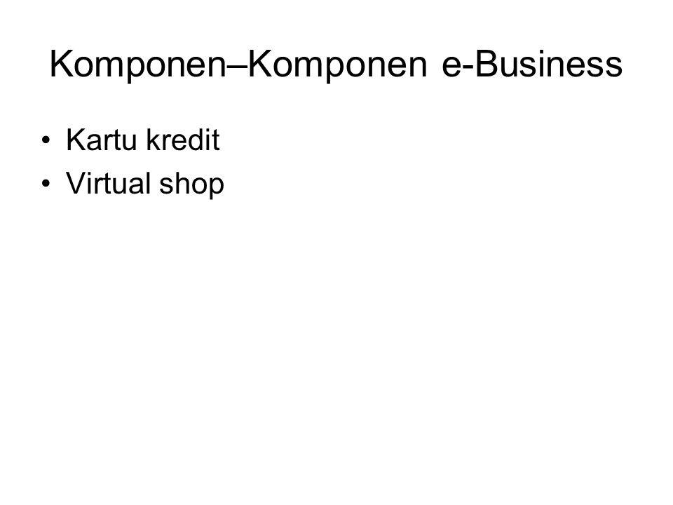Komponen–Komponen e-Business