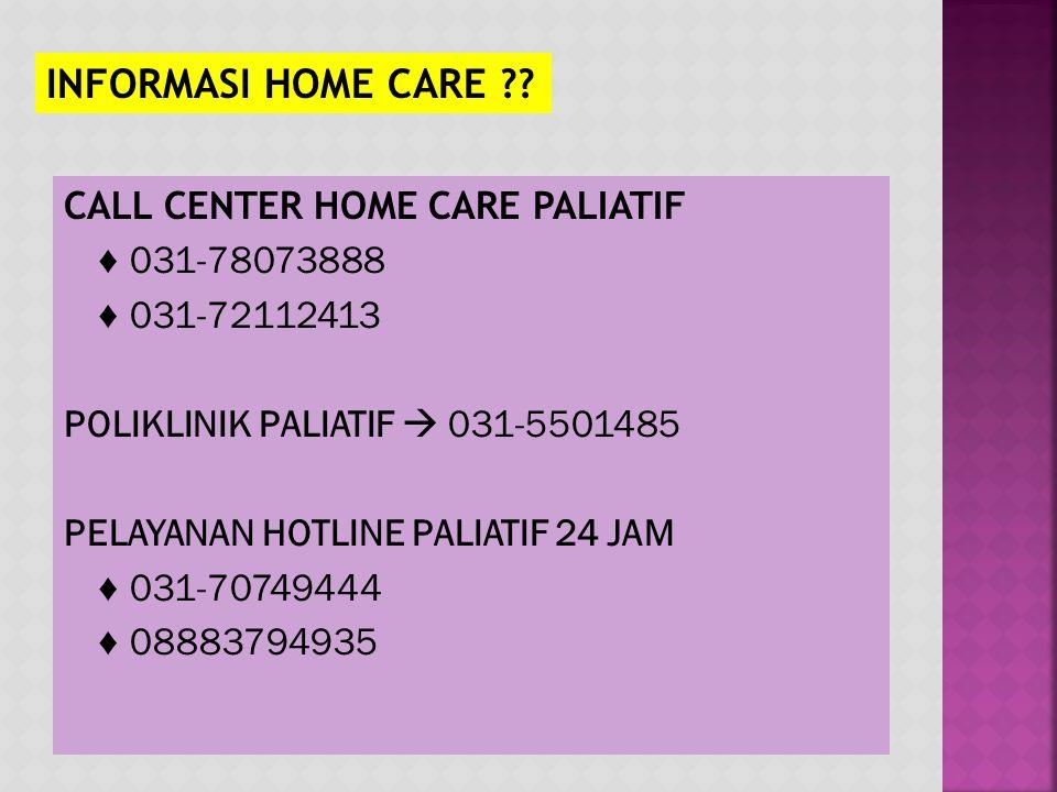 INFORMASI HOME CARE