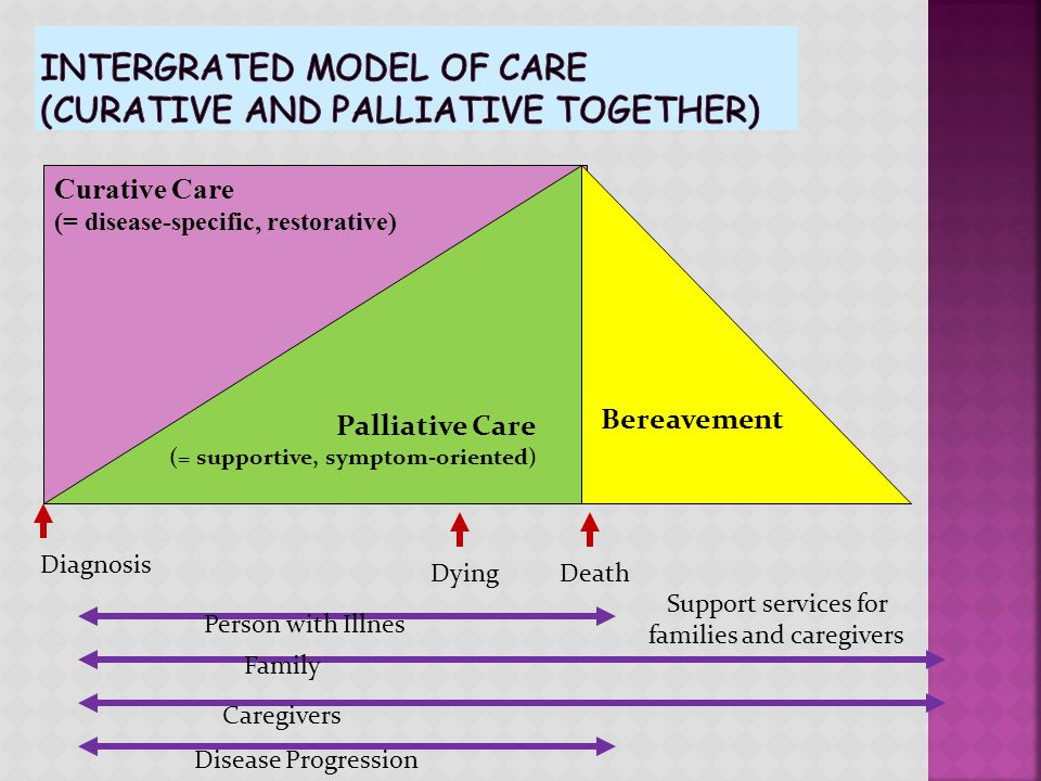 Intergrated model of care (curative and palliative together)