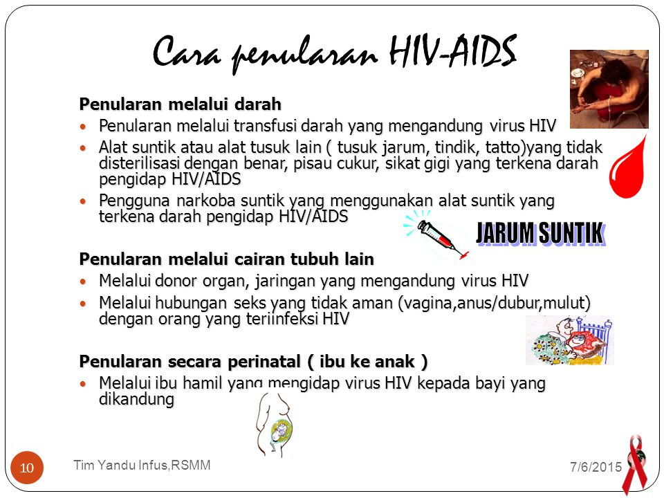 Cara penularan HIV-AIDS