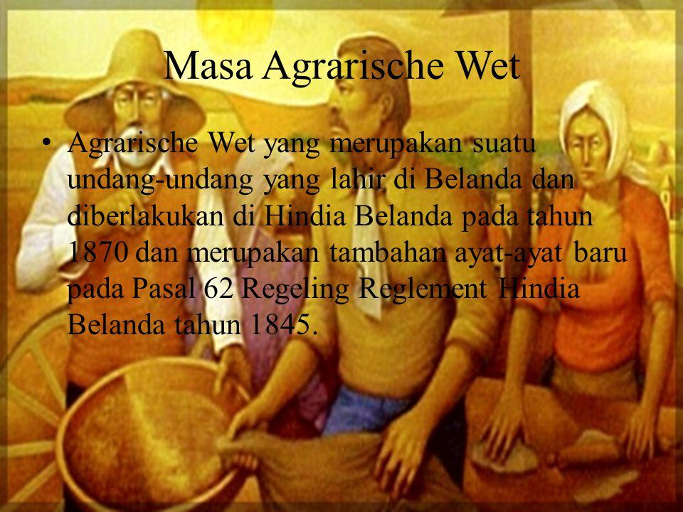 Masa Agrarische Wet