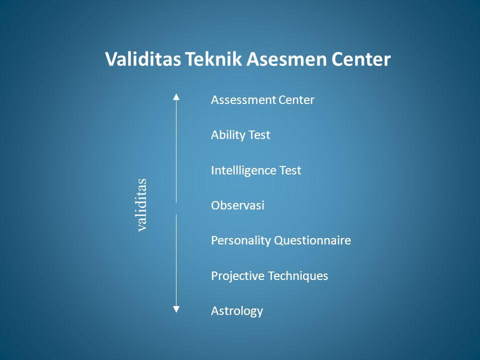 Validitas Teknik Asesmen Center