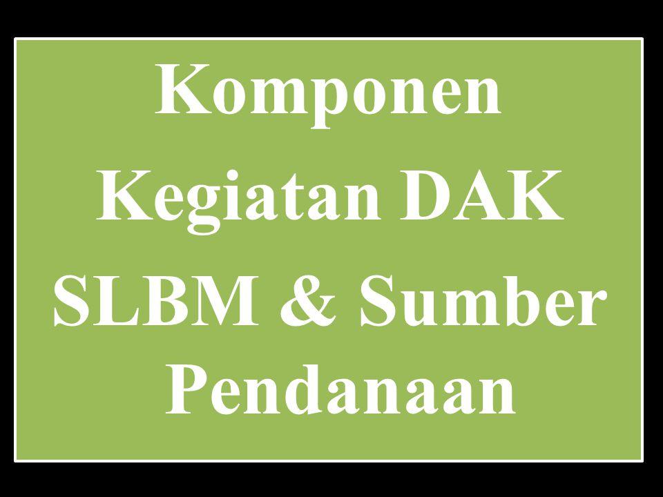SLBM & Sumber Pendanaan