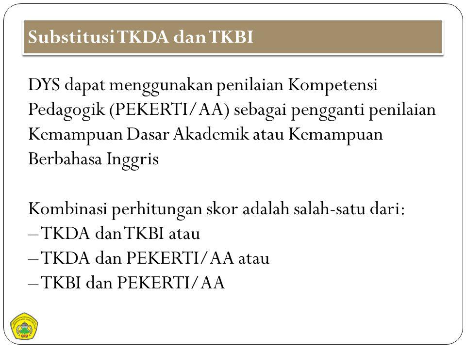Substitusi TKDA dan TKBI