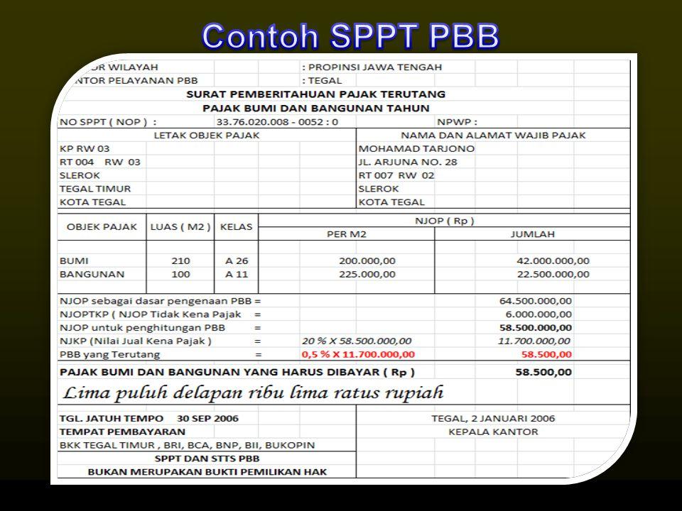 Contoh SPPT PBB