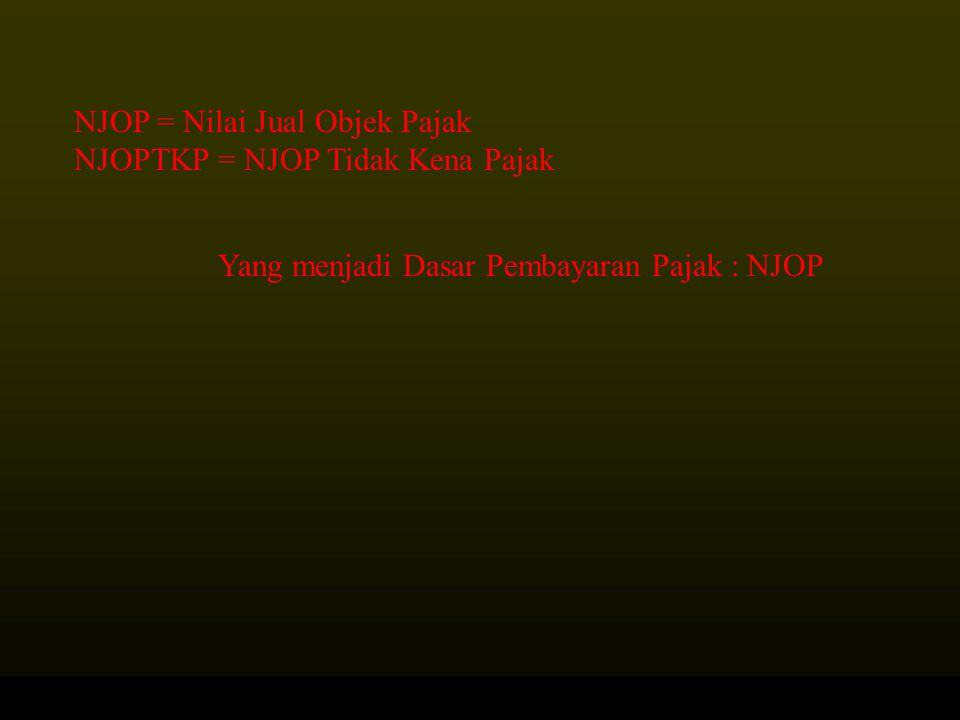 NJOP = Nilai Jual Objek Pajak