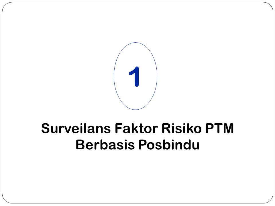 Surveilans Faktor Risiko PTM Berbasis Posbindu