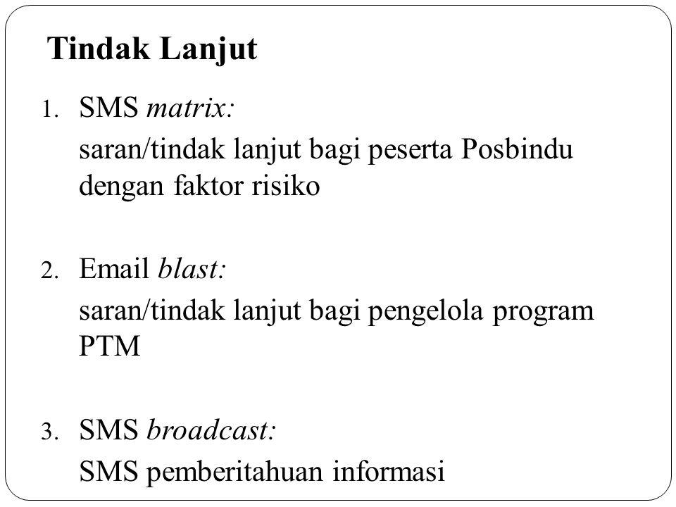 Tindak Lanjut SMS matrix: