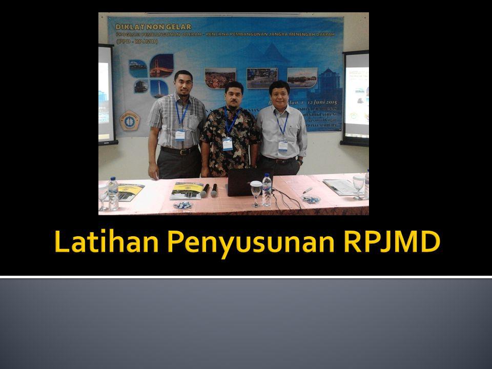 Latihan Penyusunan RPJMD