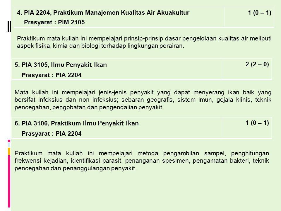 4. PIA 2204, Praktikum Manajemen Kualitas Air Akuakultur