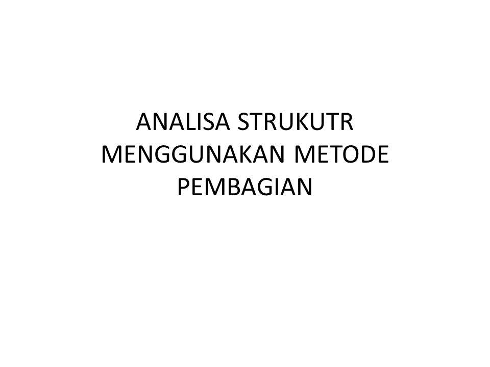 ANALISA STRUKUTR MENGGUNAKAN METODE PEMBAGIAN