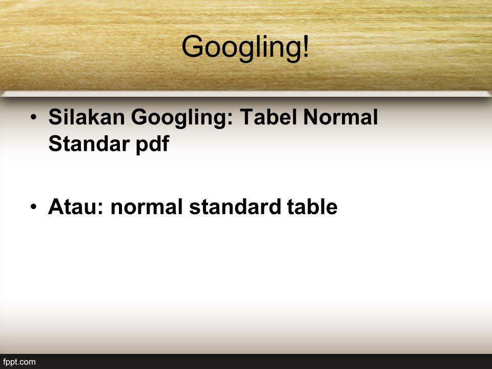 Googling! Silakan Googling: Tabel Normal Standar pdf