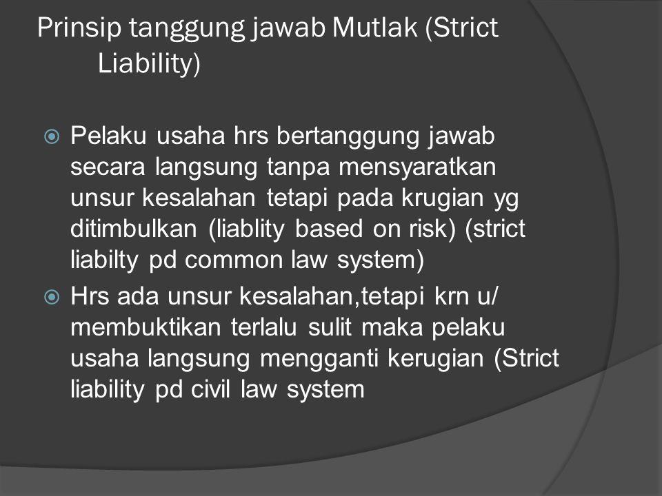 Prinsip tanggung jawab Mutlak (Strict Liability)