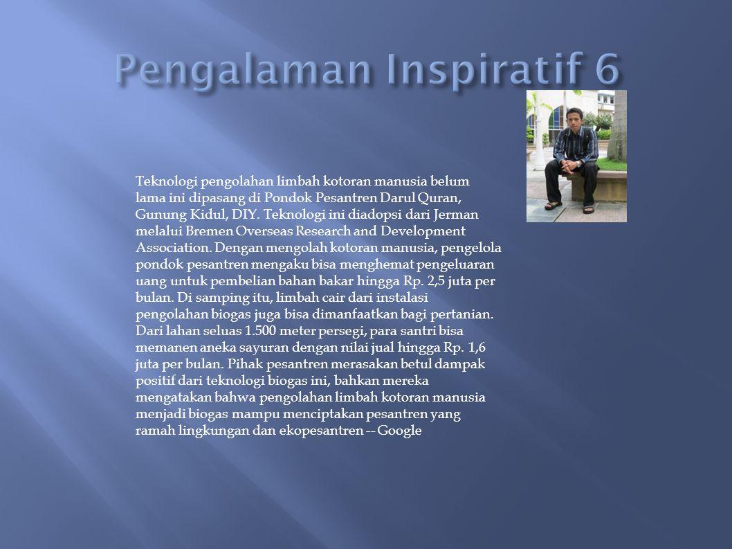 Pengalaman Inspiratif 6