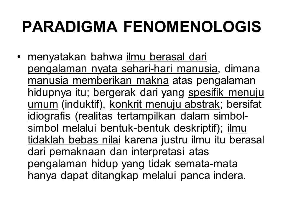 PARADIGMA FENOMENOLOGIS