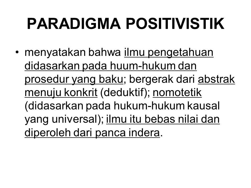 PARADIGMA POSITIVISTIK