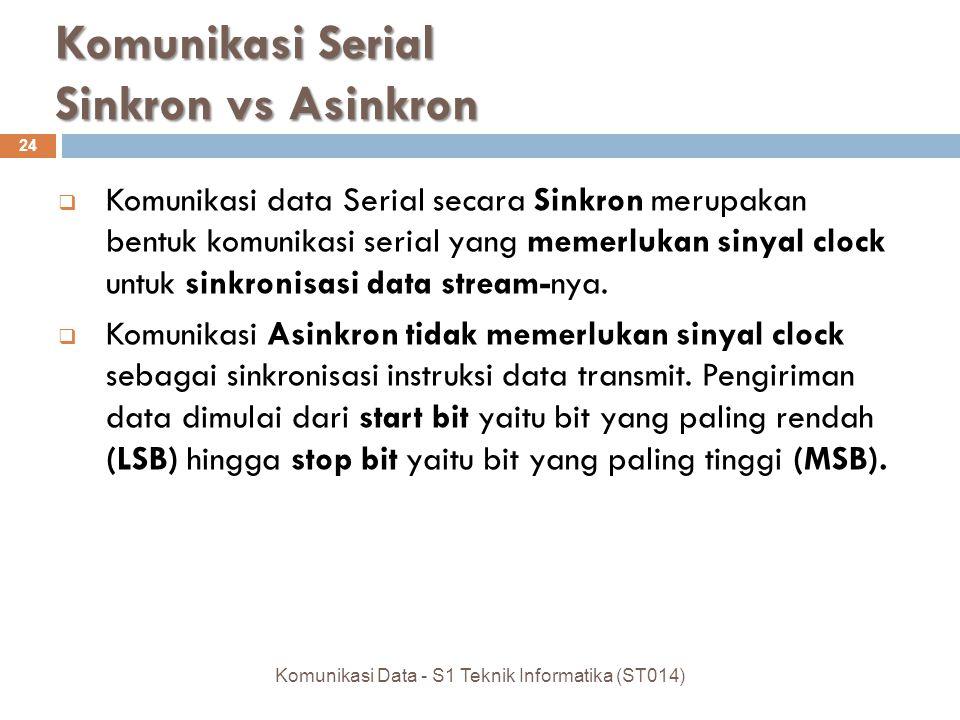 Komunikasi Serial Sinkron vs Asinkron