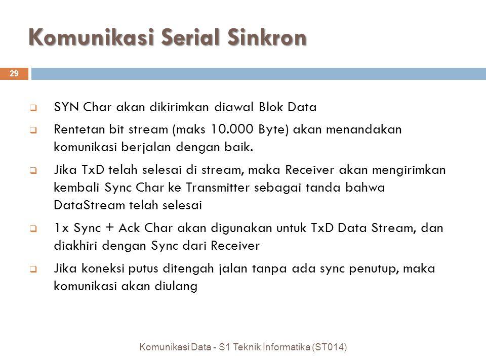 Komunikasi Serial Sinkron
