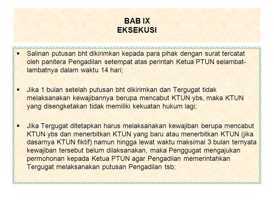 BAB IX EKSEKUSI