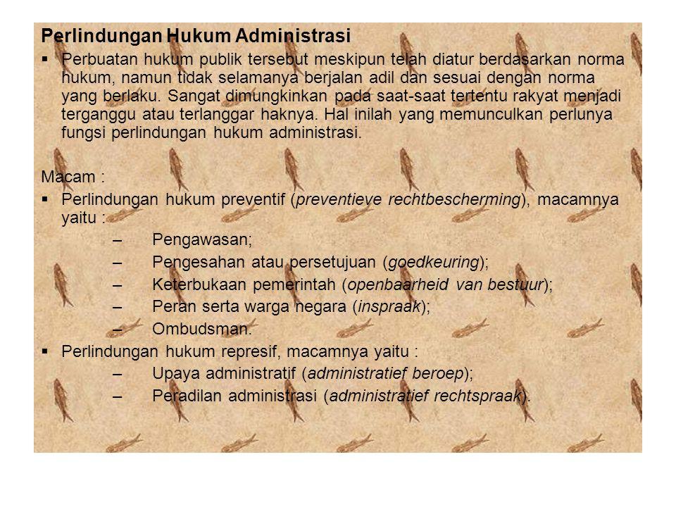 Perlindungan Hukum Administrasi