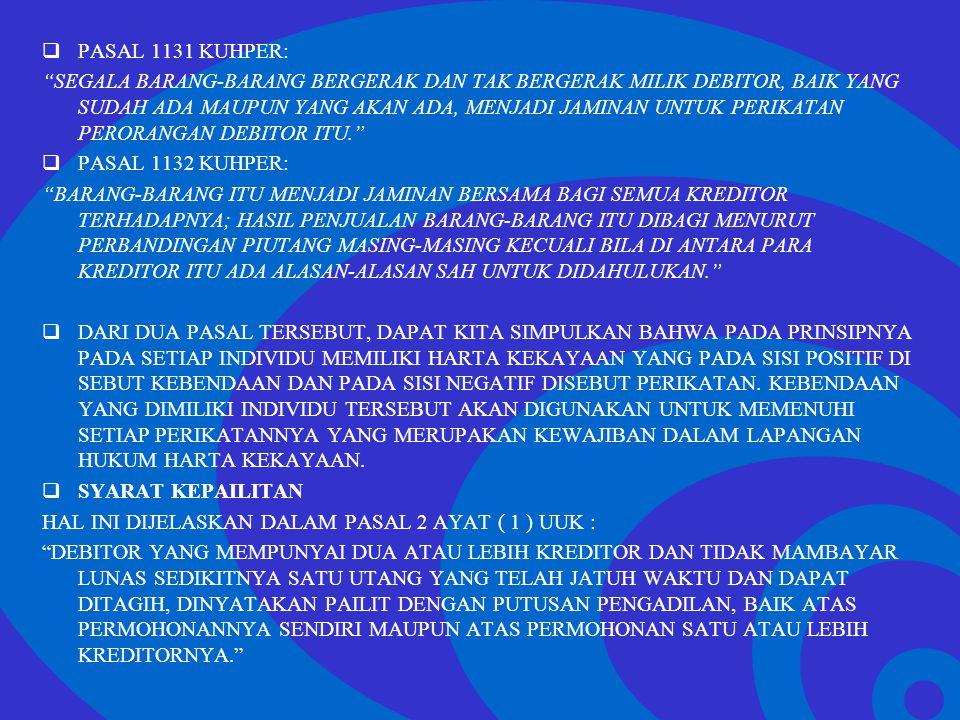 PASAL 1131 KUHPER: