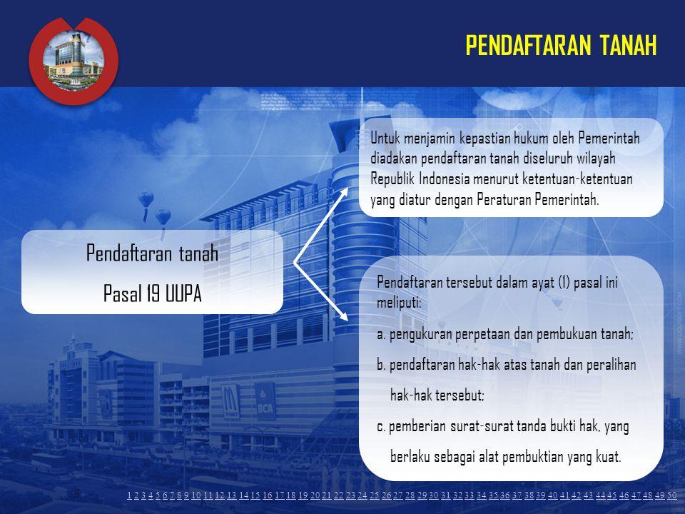 PENDAFTARAN TANAH Pendaftaran tanah Pasal 19 UUPA