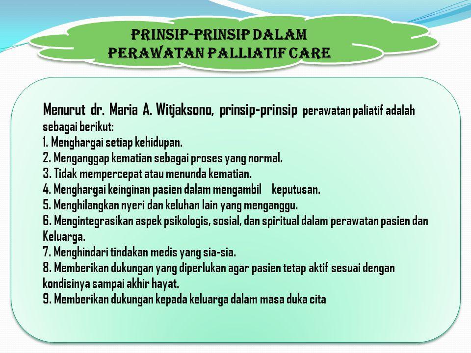 Prinsip-prinsip dalam Perawatan Palliatif Care