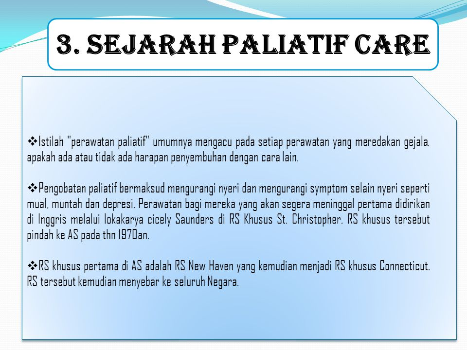 3. SEJARAH PALIATIF CARE