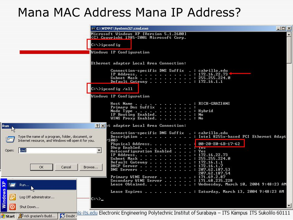 Mana MAC Address Mana IP Address