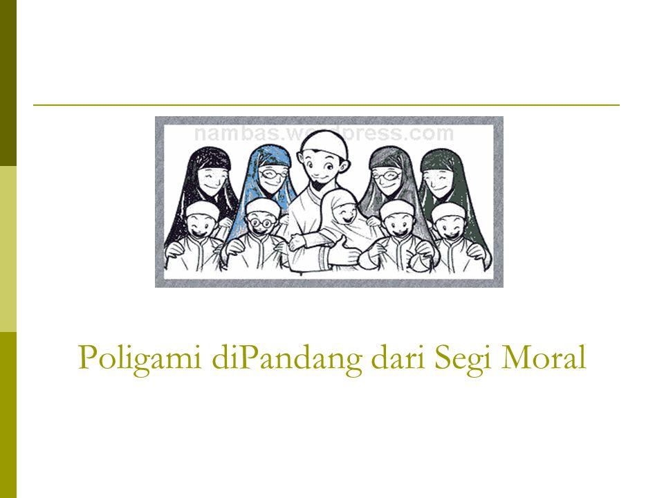 Poligami diPandang dari Segi Moral
