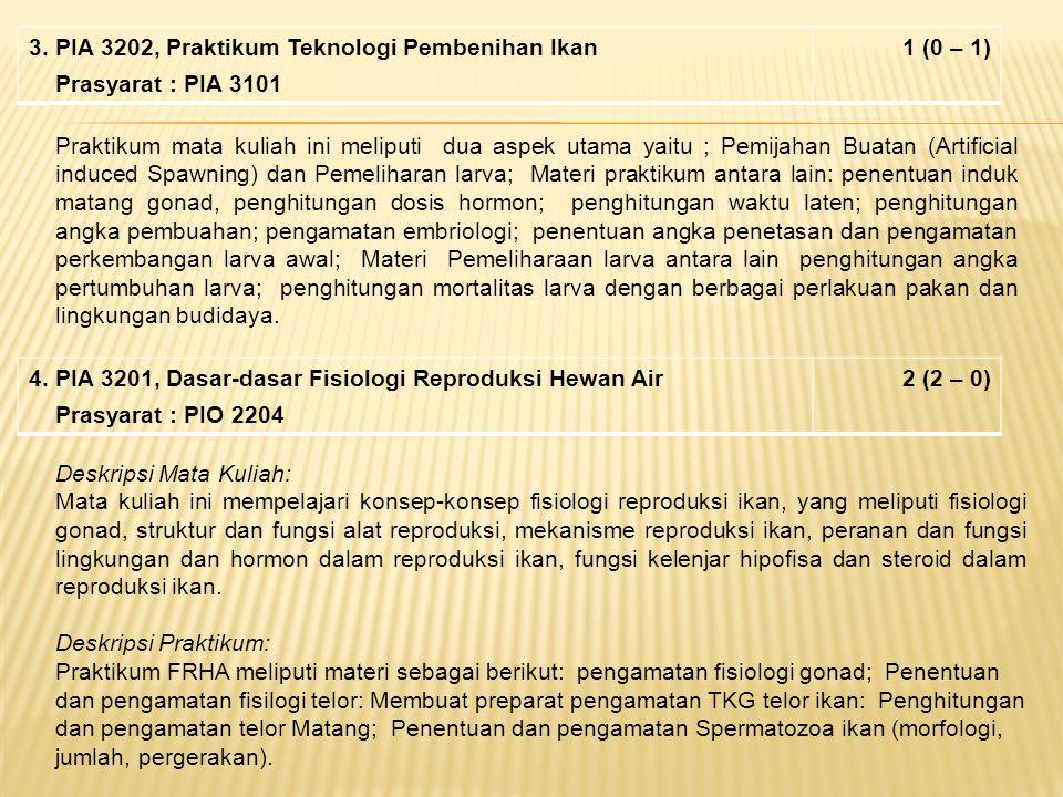 3. PIA 3202, Praktikum Teknologi Pembenihan Ikan